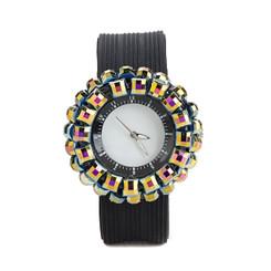 Round Gem Wrist Watch