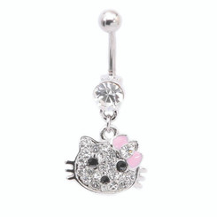 Kitty with Bow Belly Bar