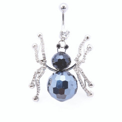 Blue Crystal Spider Belly Bar