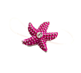 Pink Elasticated Starfish Toe Ring