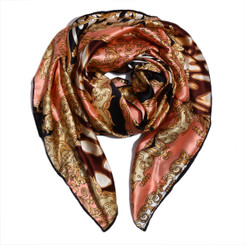Funky Pink Animal Print 100% Silk Scarf