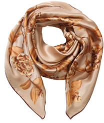 Gold Rose Silk Scarf