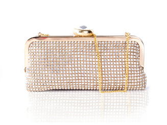 Gold Diamond Crystal Bag
