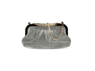 Black Diamond Ribbon Crystal Bag