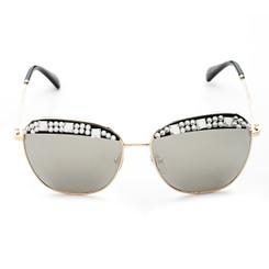 Clear Crystal Rim Sunglasses