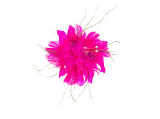 Soft Feather Flower Fascinator