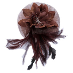 Twist flower fascinator