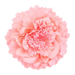 Peach Peony flower fascinator