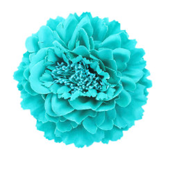 Turquoise Peony flower fascinator