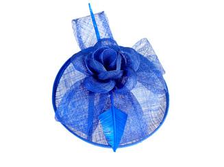 Blue Rose Feather Fascinator