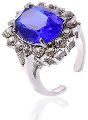 Blue Sapphire Heart Of The Ocean Ring | Neoglory