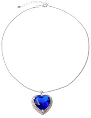 Blue Sapphire Heart Of The Ocean Necklace