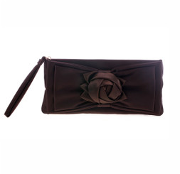 Satin Rose Detail Evening Bag