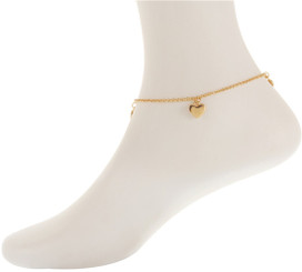 Twin Crystal Heart Anklet