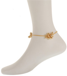 Neoglory Beautiful Dangling Bauble Anklet Silver/Gold/Rose Gold Plated Ank03