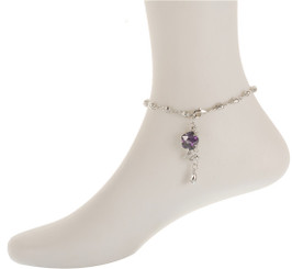 Neoglory Beautiful Tulip Flower Anklet Silver/Gold/Rose Gold Plated Ank08