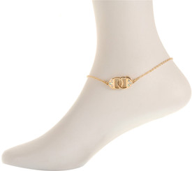 Neoglory Cute Crystal Double Padlock Anklet Silver/Gold Plated Gift/Party Ank21