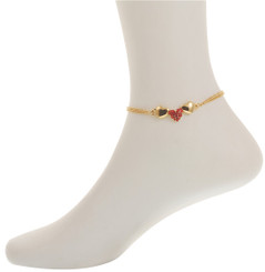 Neoglory Crystal Hearts Anklet Gold/Silver Plated Gift/Party Ank26