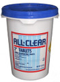 "All Clear 3"" Chlorine Tablets 50 lb."