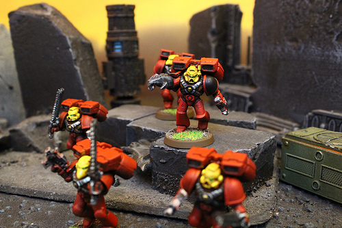 Blood Angel Miniatures used for the Warhammer 40k War Game