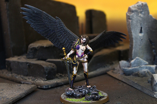 Daemon Prince Miniature. Part of the Daemons of Chaos faction and the Warhammer 40k War Game