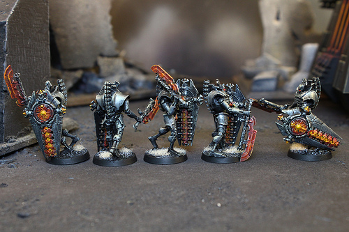 Necron Miniatures used in the Warhammer 40k War Game