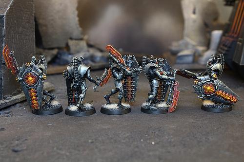 Necron Miniatures used in the Warhammer 40k War Game