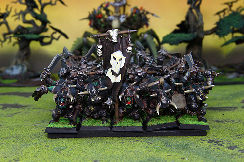 Orc Miniatures from the Warhammer Fantasy War Game