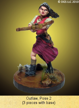 Outlaw Miniature from the Freeblades War Game