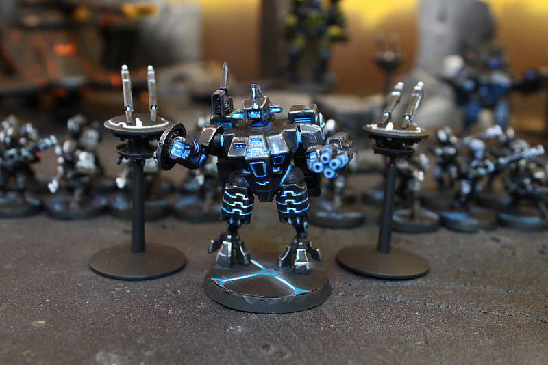 Tau Miniatures used in the Miniature War Game Warhammer 40k