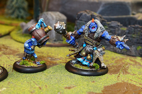 Warmachine Miniatures from the popular mini wargaming company Privateer Press