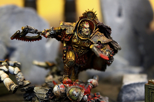 Chaos Space Marine World Eater Miniatures for the Warhammer 40k War Game