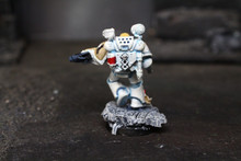 Space Marine Apothecary Lot 8487 Blue Table Painting Store