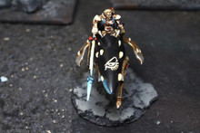 Eldar Autarch on Jetbike Lot 8518 Blue Table Painting Store