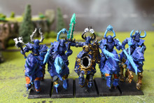 Warriors of Chaos Chaos Knights Lot 10305 Blue Table Painting Store