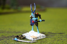 Warriors of Chaos Tzeentch Sorcerer Lord Lot 10755 Blue Table Painting Store