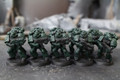 Dark Angel Tactical Marines Lot 11005 Blue Table Painting Store