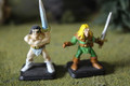 Warhammer Quest Heroquest Elf and Barbarian Heroes Lot 16363