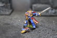 Space Marine Captain Lot 5701 Blue Table Painting Store