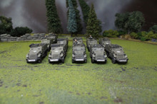 U.S. M3 Halftracks Lot 5801 Blue Table Painting Store