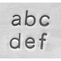 IMPRESSART - Basic Economy Lowercase Metal Stamp Set  3mm