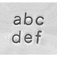 IMPRESSART - Basic Economy Lowercase Metal Stamp Set  2.5mm
