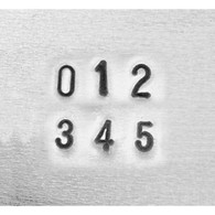 IMPRESSART - Basic Economy Number Metal Stamp Set  1.5mm