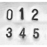 IMPRESSART - Basic Economy Number Metal Stamp Set  3mm