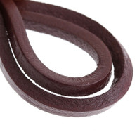 Genuine Leather Jewellery Cord Square 3mm - Brown