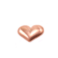 Copper Solderable Accent  - Mini Puffy Heart 24g