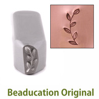 Beaducation Garden Branch Border Design Stamp 10x3.5mm