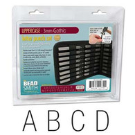 Beadsmith - Gothic Uppercase Metal Stamp Set 3mm