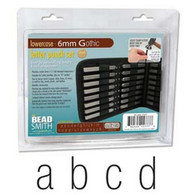 Beadsmith - Gothic Lowercase Metal Stamp Set 6mm