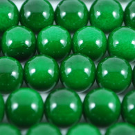 Varnished Baked Glass Beads Irish Green - 8mm